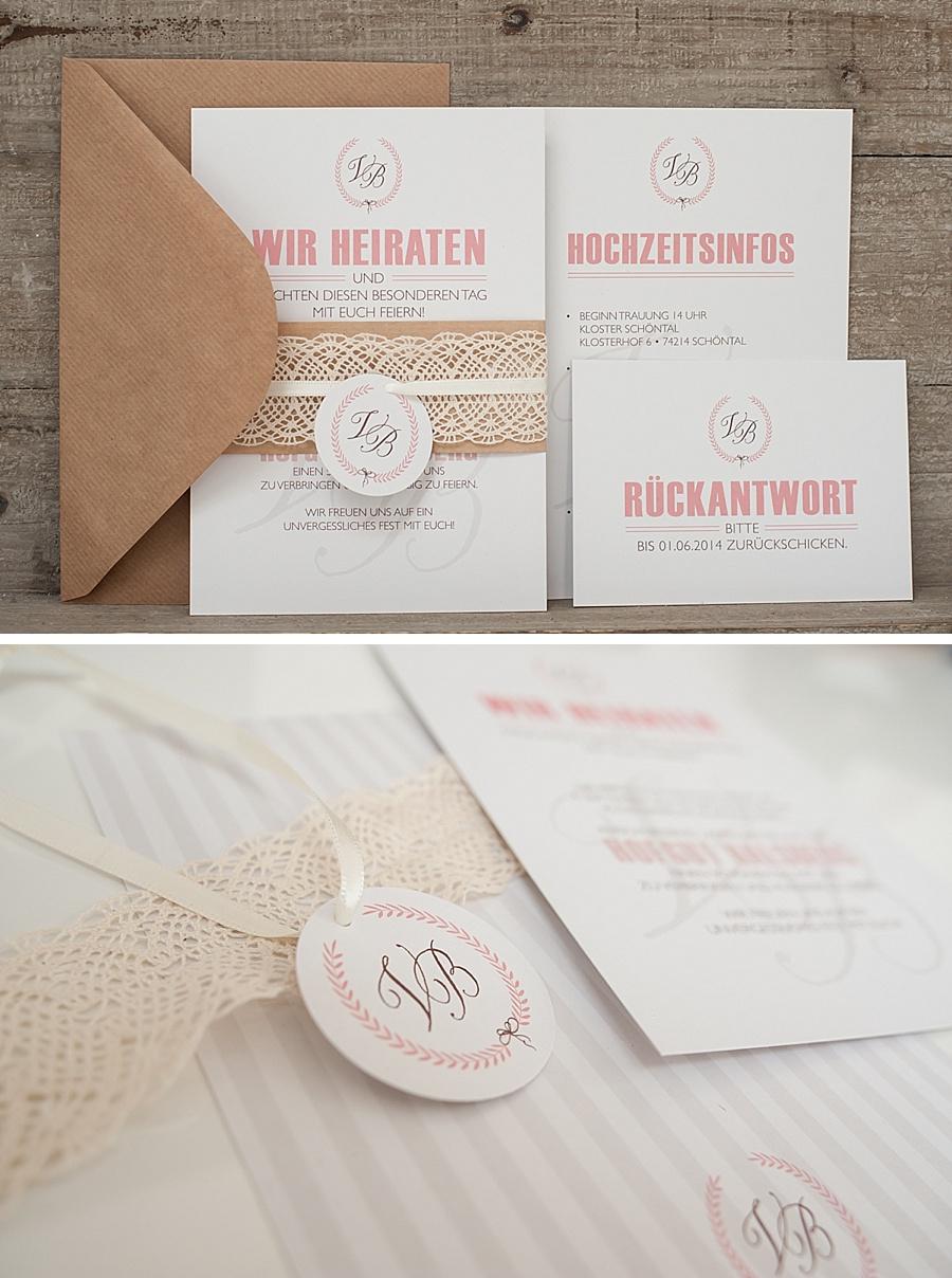 Einladung Hochzeit Kraftpapier Hipop Co